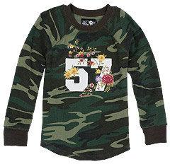 Lucky Brand 57 Applique Camo Raglan Shirt
