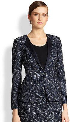 St. John Marble Tweed Knit Jacket