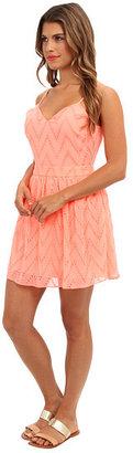 Dolce Vita V Eyelete Lace Dress - Open Back