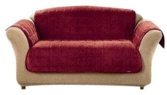 Sure Fit Deluxe Pet Cover For Sofa-Burgundy