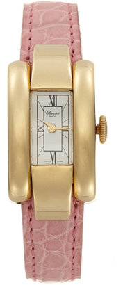Chopard La Strada 18K Gold & Pink Leather Watch