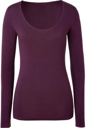 Majestic Aubergine Long Sleeve Scoop-Neck T-Shirt