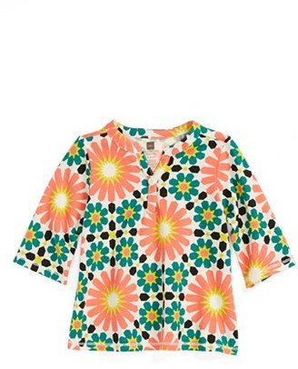 Tea Collection 'Fes' Tile Print Top (Baby Girls)