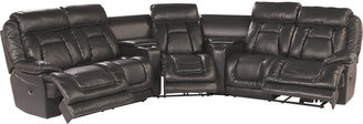 Rooms To Go Edison Park 4 Pc Blended Leather Sectional