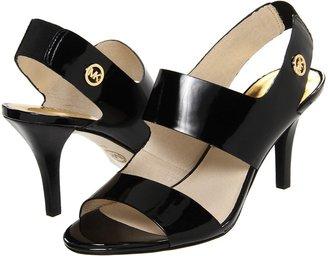 MICHAEL Michael Kors Rochelle Open Toe (Black Patent) - Footwear