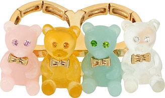Betsey Johnson Gummy Bear 2 Finger Ring