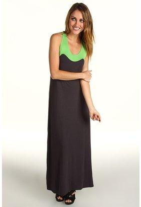 Gabriella Rocha Bara Maxi Dress (Lime/Dark Grey) - Apparel