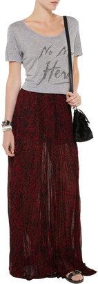 Enza Costa Printed crinkled chiffon maxi skirt