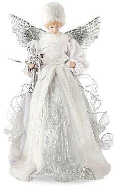 JCPenney Winter White Christmas Angel Tree Topper