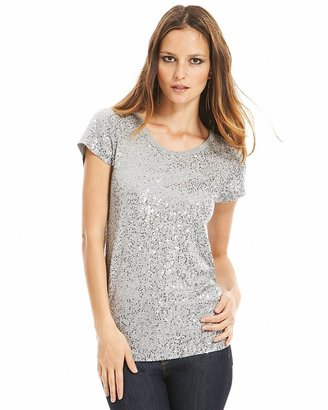 DKNY Sequined Cotton Tee