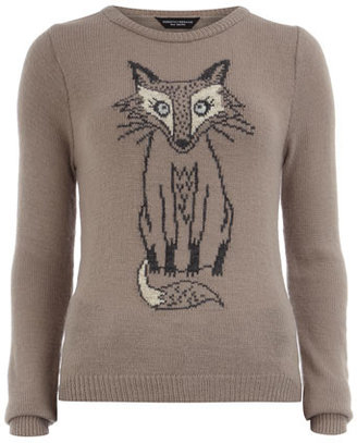 Dorothy Perkins Mink sketchy fox jumper
