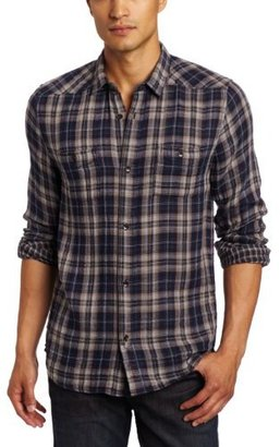 7 For All Mankind Men's Double Face Plaid Shirt