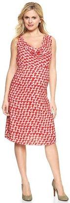 Gap Printed cowlneck dress