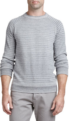 Theory Sanders Spaced-Dyed Sweater, Gray