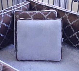 Blueberrie Kids Bordeaux Sterling Throw Pillow Blueberrie Kids