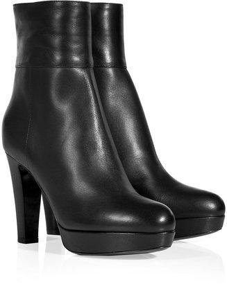 Sergio Rossi Black Nappa Leather Boots