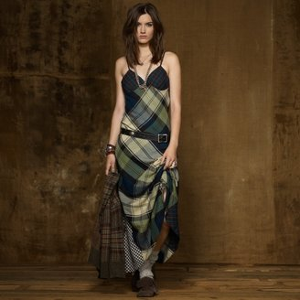 Denim & Supply Ralph Lauren Cotton Paneled Slip Dress