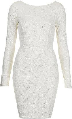 Topshop Glitter Loop Back Dress