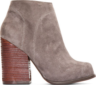 Jeffrey Campbell Dark Grey Suede Hanger Ankle Boots