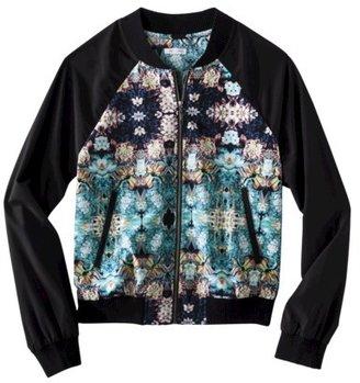 Xhilaration Junior's Bomber Jacket - Floral