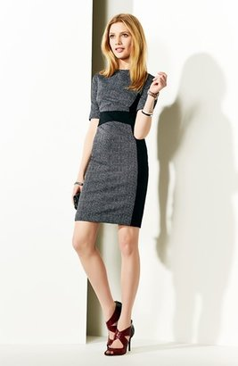 MICHAEL Michael Kors Contrast Panel Crewneck Dress