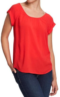 Old Navy Women's Cuffed-Dolman Crepe Tops