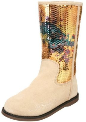 Ed Hardy Sequined Iceland Boot for Women - Tan