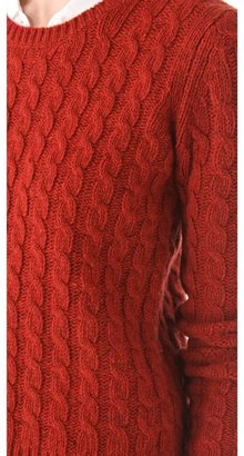 Trovata Birds of Paradis by Chunky Cable Pullover