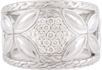 John Hardy Kawung Diamond Pavé Tapered Ring, Size 7