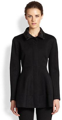 Donna Karan Carol Bonded Jersey Peplum-Back Jacket