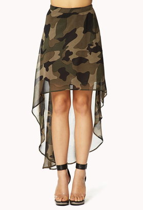 Forever 21 High-Low Camo Skirt
