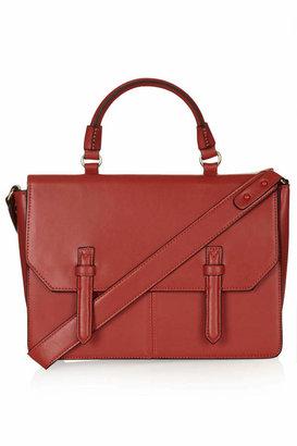Topshop Large faux leather clean-cut satchel
