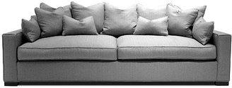 "Baldwin 86"" Plush Sofa, Gray"