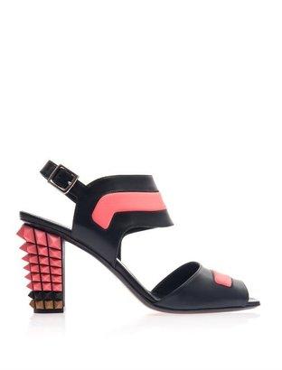 Fendi Polifina studded heel sandals