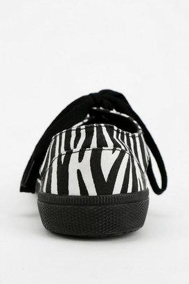 Jeffrey Campbell Lylas Animal Print Cutout Sneaker