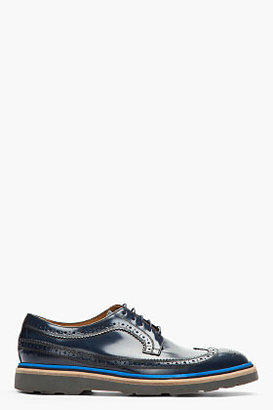 Paul Smith Navy Leather Longwing Indios Brogues