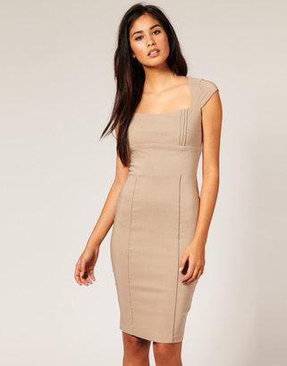 Hybrid Pleated Neck & Waist Dress