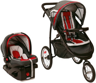 Graco FastAction Fold Jogger Click Connect Travel System - Chili Red $320 thestylecure.com
