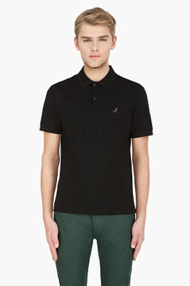 Lanvin black ribbon-shouldered polo