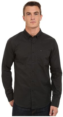 RVCA That'll Do Oxford L/S (Pirate Black) Men's Long Sleeve Button Up