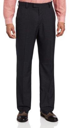 Kenneth Cole Reaction Men's Mini Herringbone Modern Fit Flat Front Dress Pant