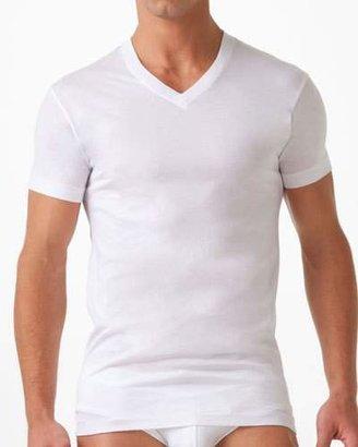 2xist Pima Cotton V-Neck T-Shirt, White