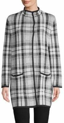 Jones New York Classic Plaid Coat