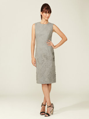 Carolina Herrera Wool Pintuck Patchwork Dress