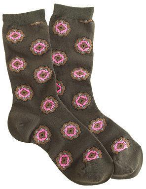 J.Crew Floral medallion trouser socks