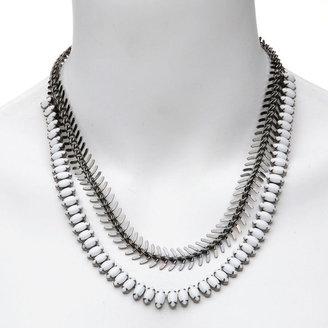 Elizabeth Cole Sable Necklace, White, Black 1 ea