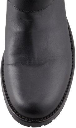 Valentino Noir Rockstud Short Motorcycle Boot