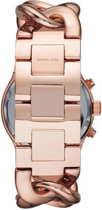 Michael Kors Rose Golden Runway Touch Of Glitz Watch