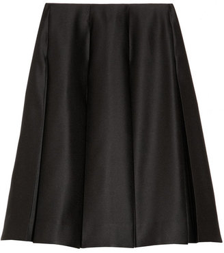 Marc Jacobs Pleated satin-twill skirt