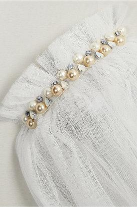 Lanvin Swarovski Pearl-embellished silk-blend tulle veil